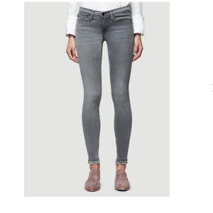 Grey Skinny de Jeanne frayed-bottom Frame Jeans